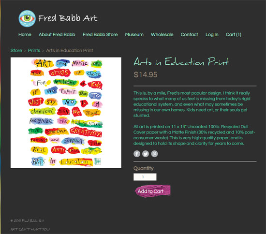 fred babb arts in education print