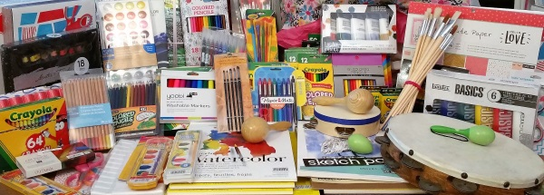Donated Art Supplies